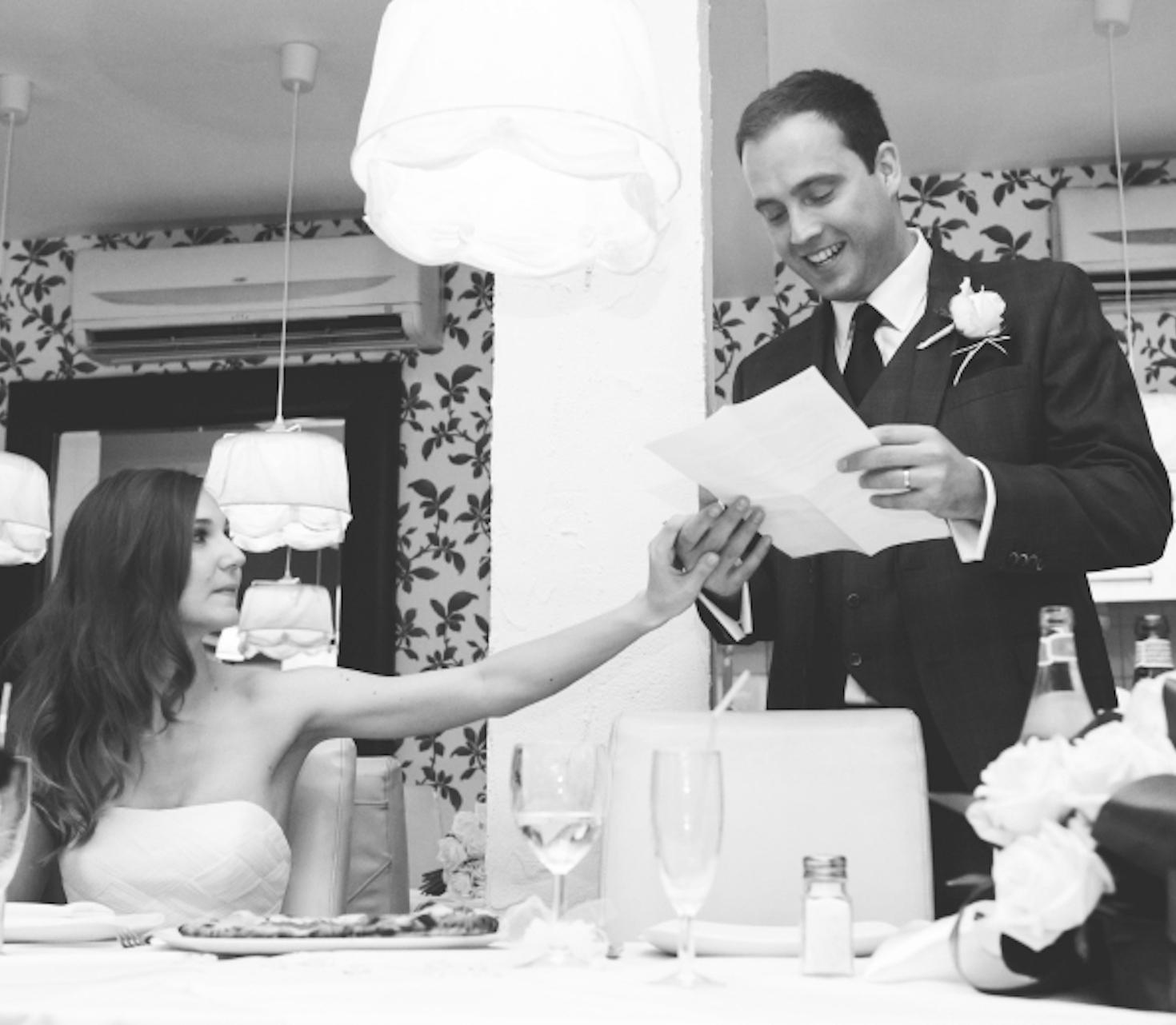 Die lustige Hochzeitsrede des Bräutigams